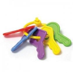 Hard plastic baby keys make a great bunny toy
